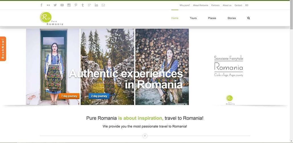 Pure Romania, creare site web