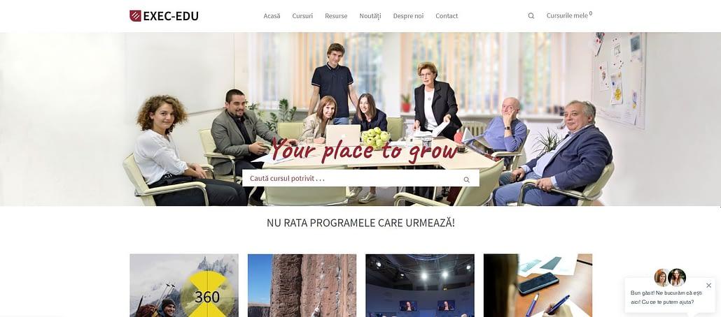 Exec-Edu website, creare site web, web design, UI design, website, realizare site web, Toud