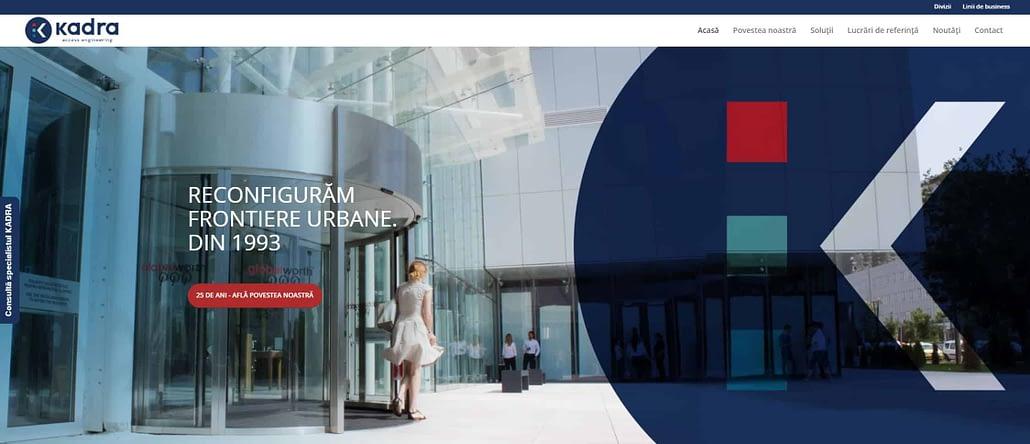 creare site web, web design, design, UI design, realizare website, website, KADRA website