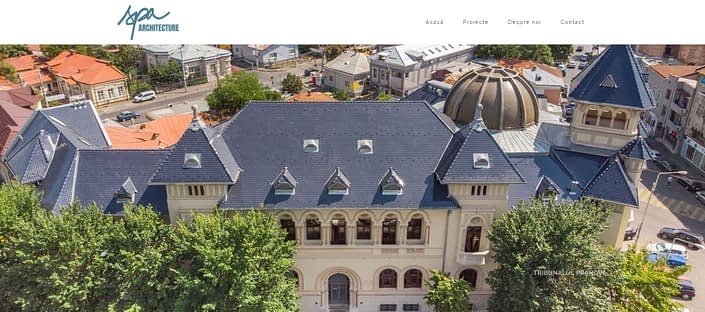 SPA Archi website, creare site web, web design, website, realizare site web