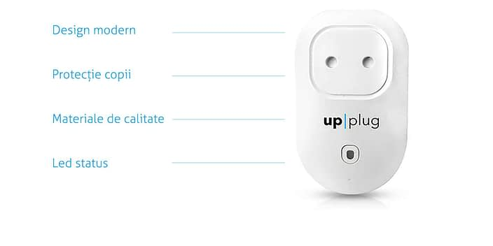 upplug, white plug with legend