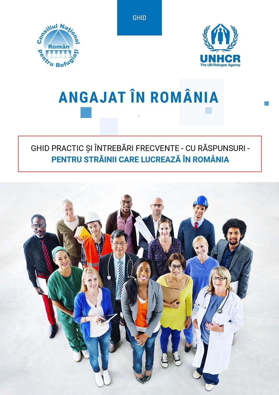 Angajat in Romania, romana, ghid, brosura, publishing design