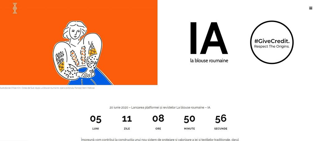 La Blouse Roumaine web, creare site website, website, web design, UI design, design