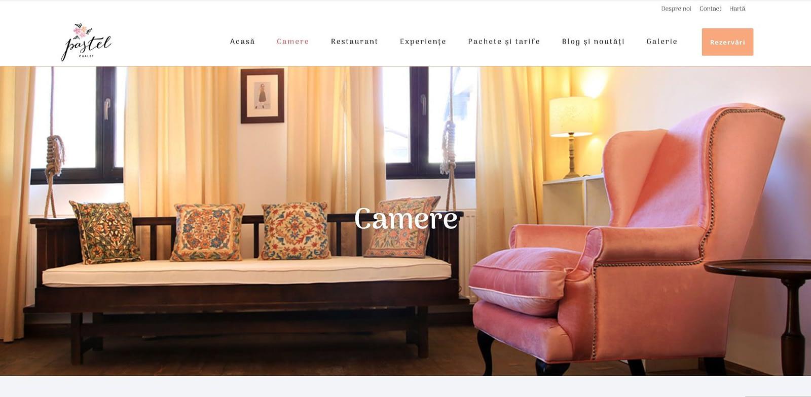 Pastel Chalet, realizare site web, web design, design, website, Toud