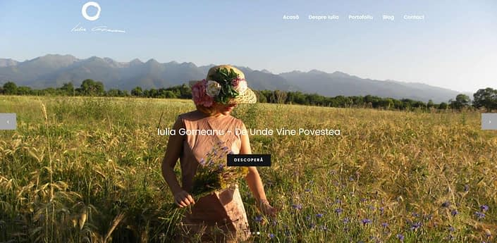 Iulia Gorneanu, creare site web