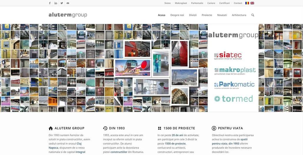 Aluterm Group, creare site web