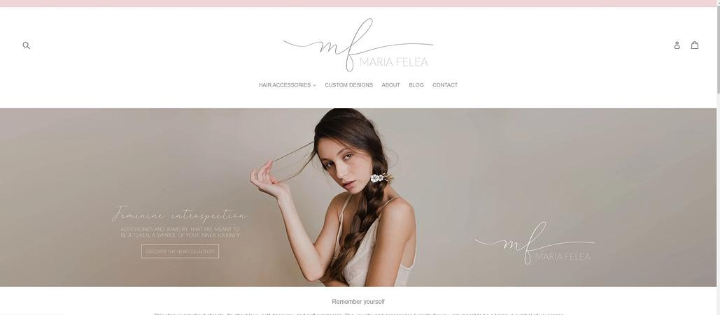 Maria Felea website, creare site web, web design, design