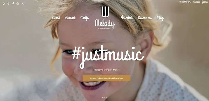 Melody School of Music, design website