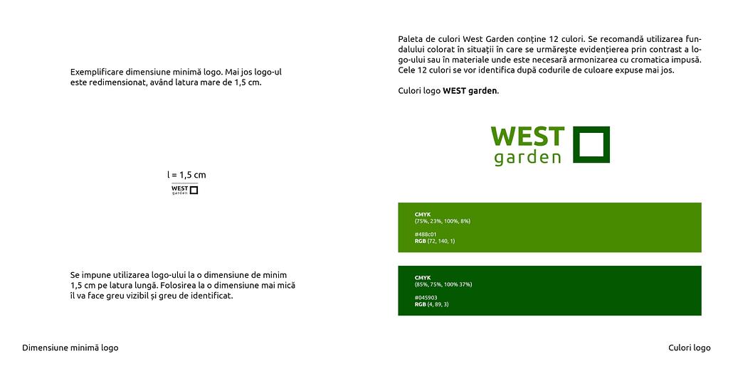 style guide, identitate vizuala, West Garden, Toud, branding