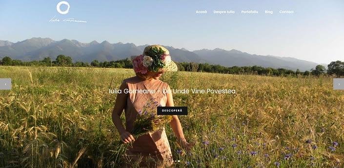 Iulia Gorneanu, design website