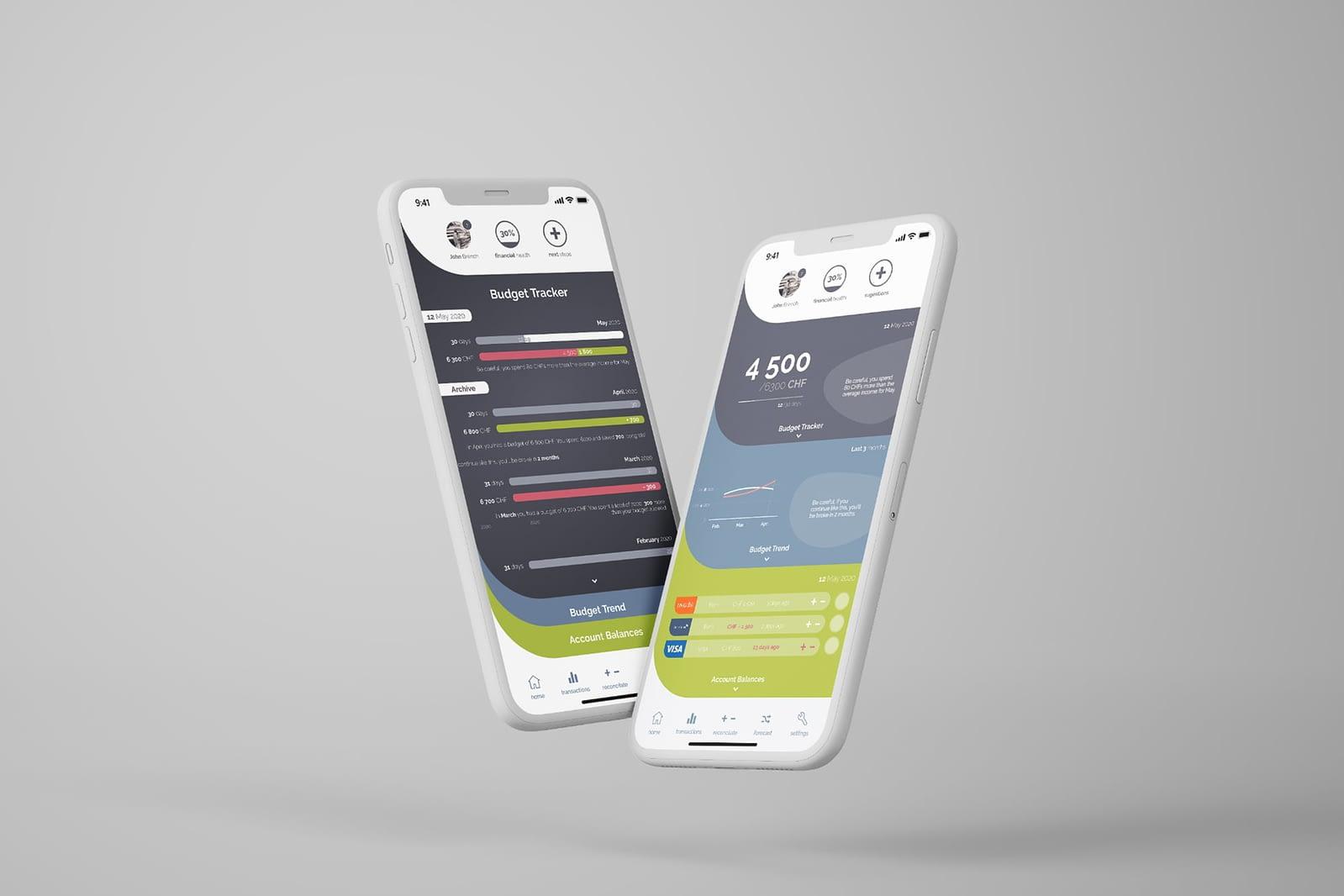 Propunere app interface, UI design, app design, design