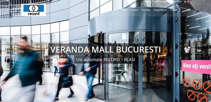 Record Romania design website