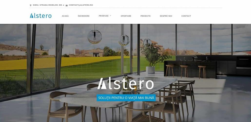 Alstero design website