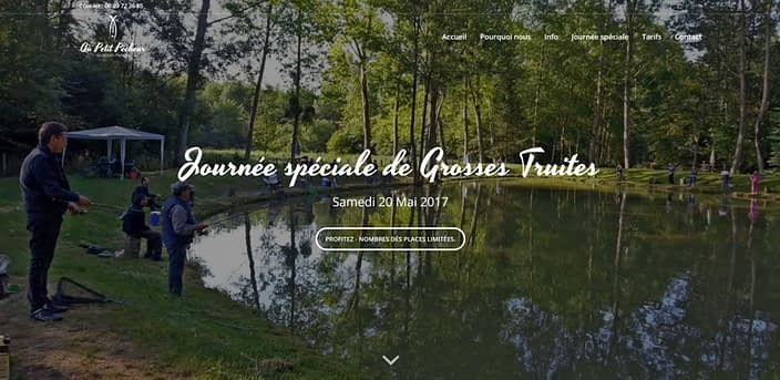 Au petit Pecheur, design website