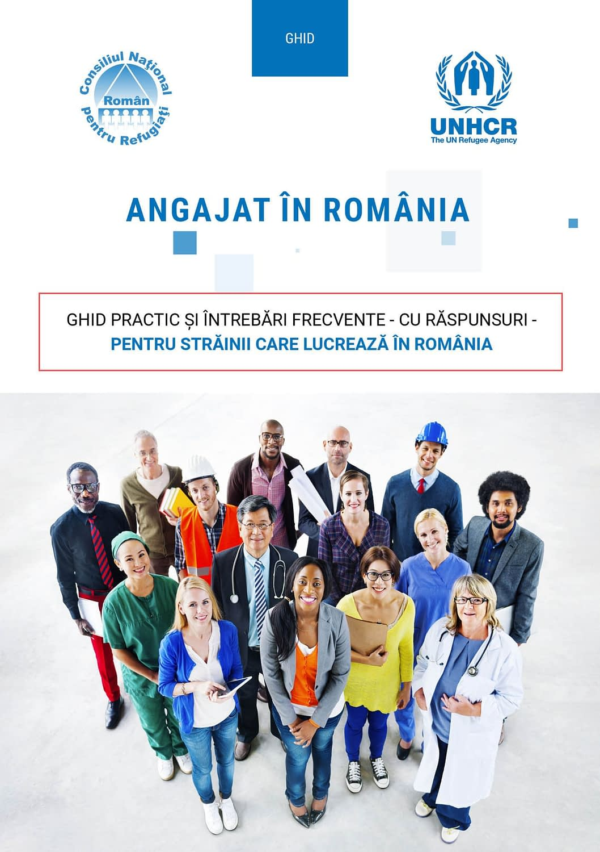 Employed in Romania, Romanian, guide, brochure, publishing design