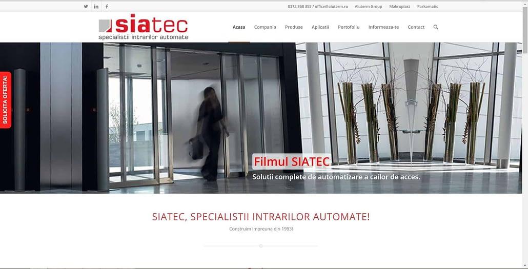 Siatec, design website