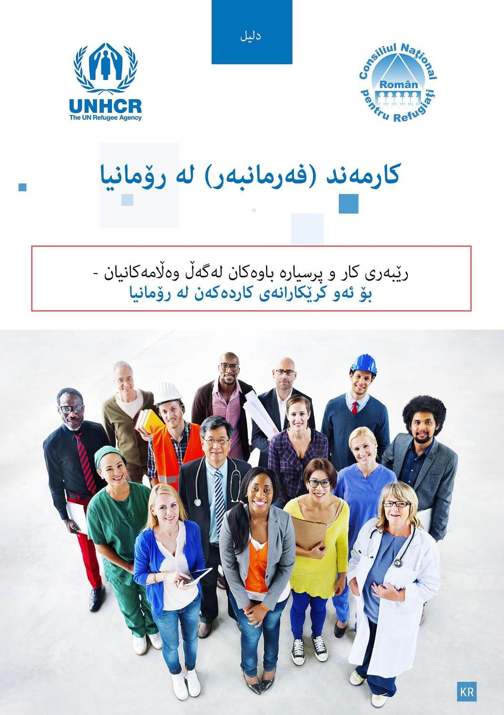 Angajat in Romania, kurda, ghid, brosura, publishing design