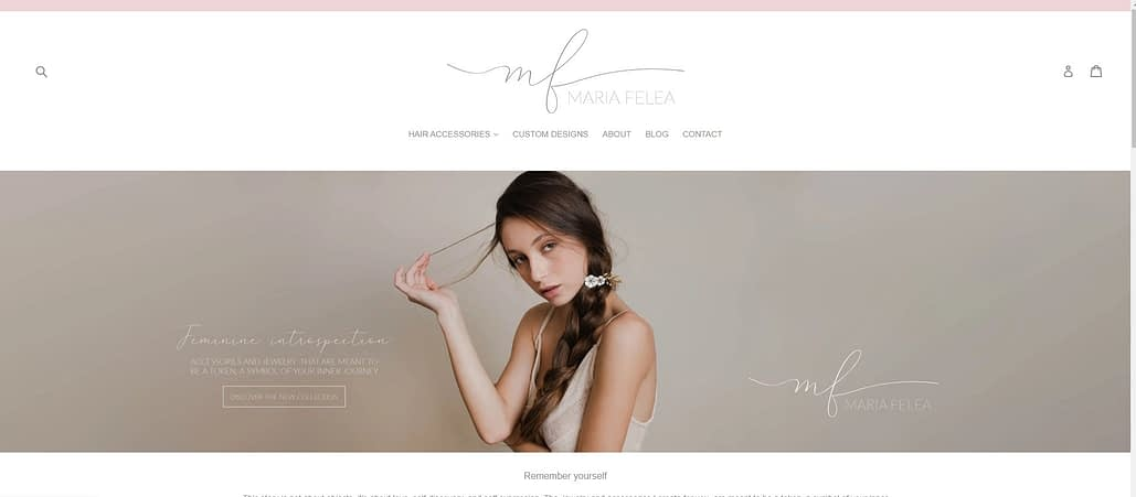 Maria Felea website, website creation, web design, website, design website