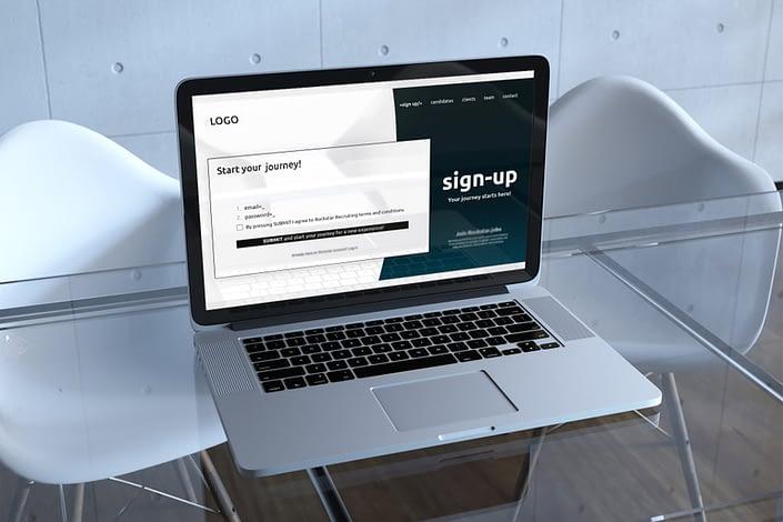 O propunere de website wireframe design pentru un motor de cautare de joburi in tehnologie, UI design, design, website