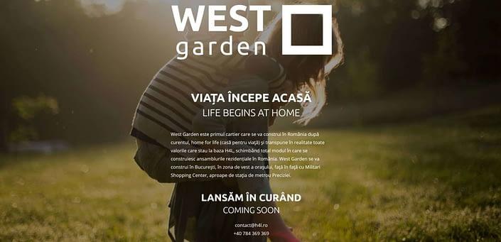 West Garden, creare site webm web design