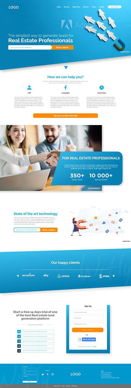 UI web design pentru o platforma de marketing, UI design, design, web design