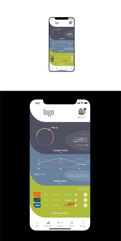 Propunere app interface, UI design, app design, design,