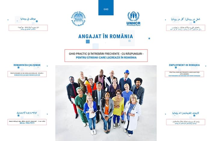 Angajat in Romania, publishing design, design, booklet, CNRR