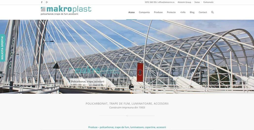 Makroplast design website