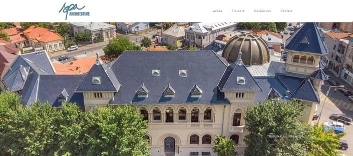 SPA Archi website, website creation, web design, website, design website