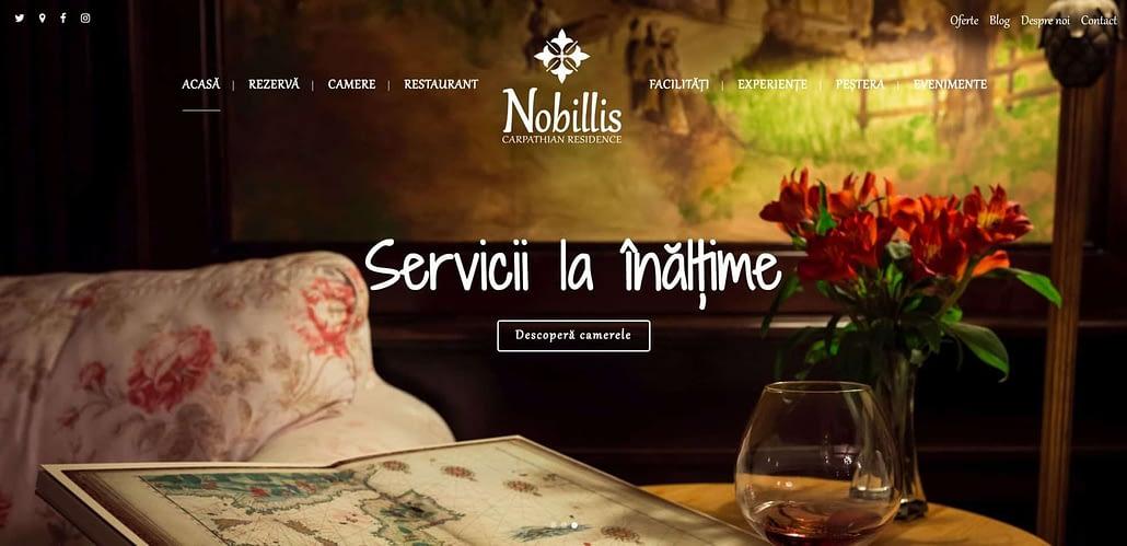 Nobillis - The Carpathian Residence, design website