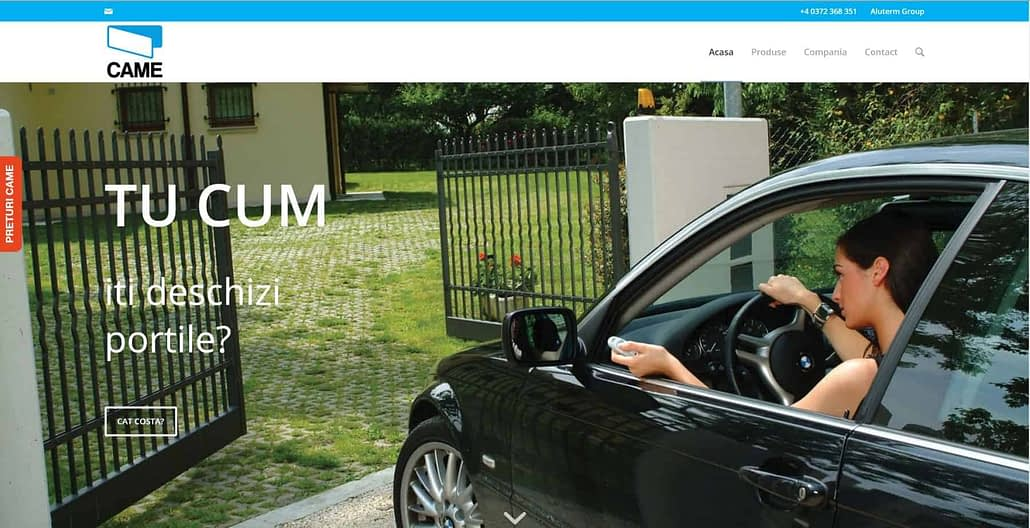 CAME Romania design website