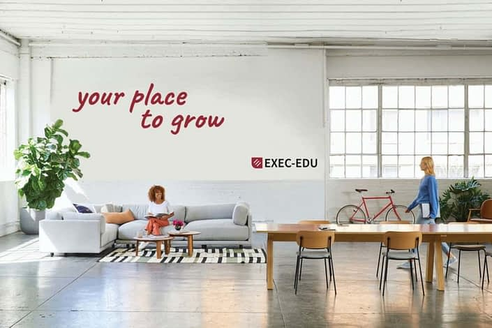 EXEC-EDU,visual identity, web design