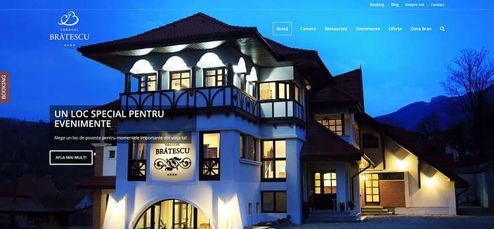 Conacul Bratescu, design website